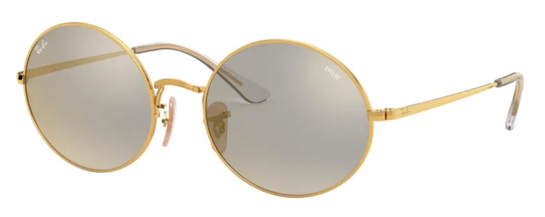 Lunettes de soleil RAY-BAN RB 1970 001/B3 Oval Mirror Evolve