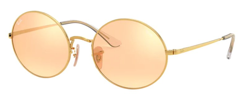 Lunettes de soleil RAY-BAN RB 1970 001/B4 Oval Mirror Evolve