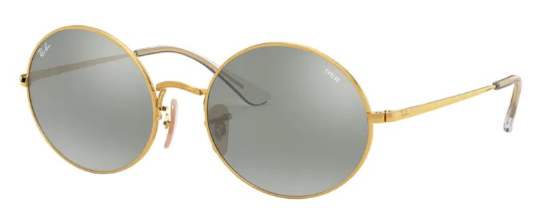 Lunettes de soleil RAY-BAN RB 1970 001/W3 Oval Mirror Evolve