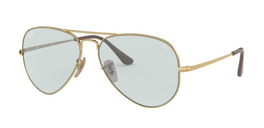 Lunettes de soleil RAY-BAN RB 3689 001/T3 Aviator Metal II