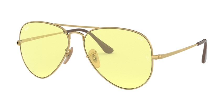 Lunettes de soleil RAY-BAN RB 3689 001/T4 Aviator Metal II