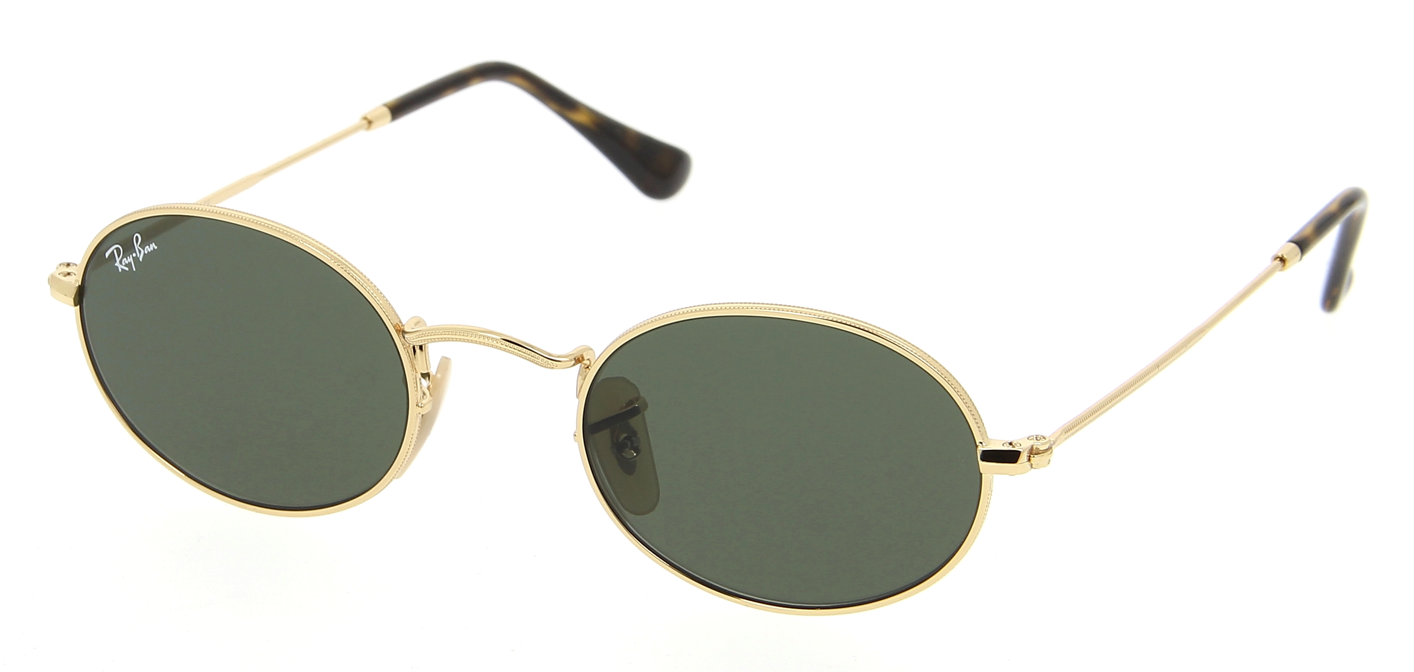 Lunettes de soleil RAY-BAN RB 3547N 001 Oval Flat Lenses